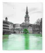 Trafalgar Square Fountain London 3f Fleece Blanket