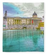 Trafalgar Square Fountain London 4 Fleece Blanket