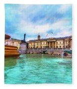 Trafalgar Square Fountain London 5 Art Fleece Blanket
