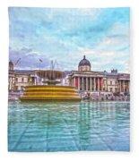 Trafalgar Square Fountain London 8 Fleece Blanket