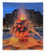 Trafalgar Square Fountain Fleece Blanket