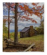 Trail Cabin Fleece Blanket