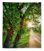 Trail Into Sunset Fleece Blanket