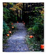 Trail Of 100 Jack-o-lanterns Fleece Blanket
