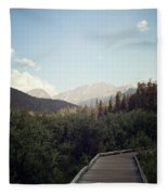 Trail Ridge Road Fleece Blanket