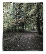 Trail Walking  Fleece Blanket