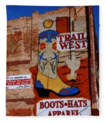 Trail West Mural Fleece Blanket