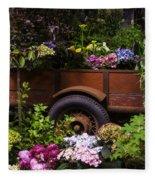 Trailer Full Of Flowers Fleece Blanket