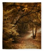 Trailing Autumn Fleece Blanket