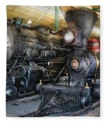 Train - Engine - Steam Locomotives Fleece Blanket