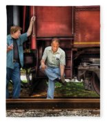 Train - Yard - Shoot'in The Breeze Fleece Blanket