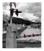 Train A Comin Fleece Blanket