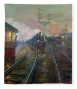 Train At Night Fleece Blanket