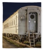 Train Car And Tracks Fleece Blanket