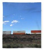 Train Cars Fleece Blanket