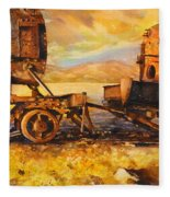 Train Cemetary- Salar De Uyuni, Bolivia Fleece Blanket