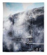 Train Engine 463 Fleece Blanket