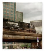 Train - Pittsburg Pa - The Industrial City Fleece Blanket