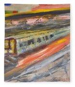 Train Ride Fleece Blanket