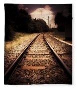 Train Tour Of Darkness Fleece Blanket