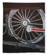 Train Wheels 2 Fleece Blanket