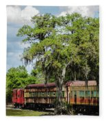 Train Yard Fleece Blanket