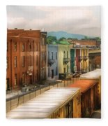Train - Yard - Train Town Fleece Blanket