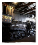 Trains 3007 C B Q Steam Engine Fleece Blanket
