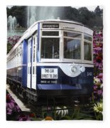 Trains Brookfield Zoo Trolley Car 141 Fleece Blanket