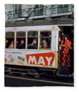 Tram 223, Graca, Lisbon, 1972 Fleece Blanket