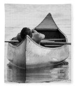 Tranquil On Chautaqua Lake Fleece Blanket