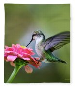 Tranquil Joy Hummingbird Square Fleece Blanket