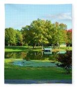 Tranquil Landscape At A Lake 5 Fleece Blanket