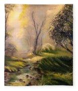 Tranquil Spring  Fleece Blanket