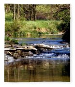 Tranquil Stream Fleece Blanket