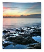 Tranquil Sunrise At Coral Cove Beach Fleece Blanket