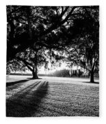 Tranquility Amongst The Oaks Fleece Blanket