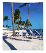 Tranquility Bay Beach Paradise Fleece Blanket