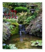Tranquility In A Japanese Garden Fleece Blanket