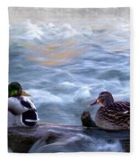 Tranquility On The River Of Life Fleece Blanket