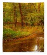 Tranquility Stream - Allaire State Park Fleece Blanket