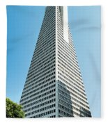 Transamerica Pyramid In San Francisco, California Fleece Blanket