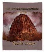 Transcendent Devils Tower 2 Fleece Blanket