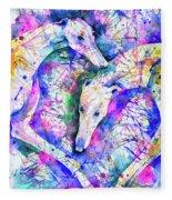 Transcendent Greyhounds Fleece Blanket