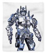 Transformers Optimus Prime Or Orion Pax Graphic  Fleece Blanket