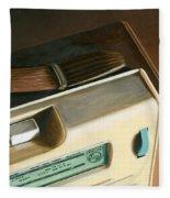 Transistor Radio Fleece Blanket
