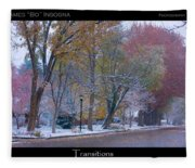 Transitions Autumn To Winter Snow Poster Fleece Blanket