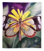 Transparent Butterfly Fleece Blanket