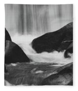 Trap Falls In Ashby Ma Black And White 6 Fleece Blanket