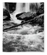 Trap Falls In Ashby Ma Black And White 1 Fleece Blanket